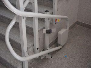 Dolne parkowanie platformy schodowej